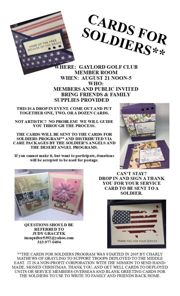 Christmas Cards For Soldiers 2019 Cards for Soldiers   Gaylord Country Club